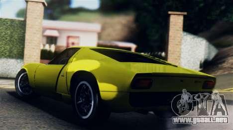 Lamborghini Miura P400 1967 para GTA San Andreas left