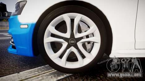 Audi S4 Avant Belgian Police [ELS] para GTA 4 vista interior