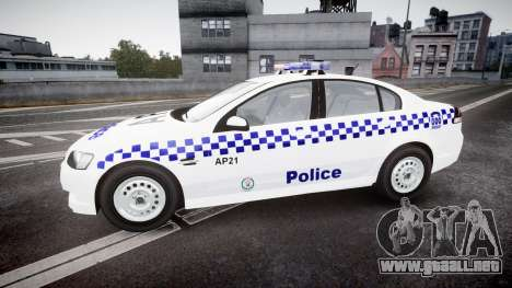 Holden Commodore Omega NSWPF [ELS] para GTA 4 left