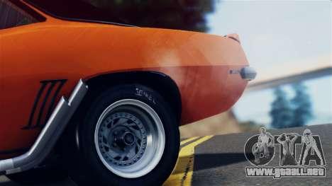 Chevrolet Camaro SS Dragster para visión interna GTA San Andreas