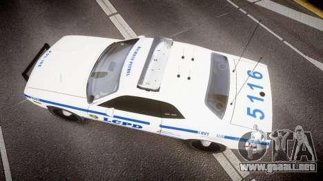 Dodge Challenger LCPD [ELS] para GTA 4 visión correcta