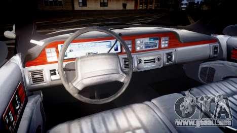 Chevrolet Caprice Liberty Police v2 [ELS] para GTA 4 vista hacia atrás