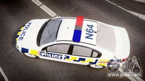 Holden VE Commodore SS Police HWP [ELS] para GTA 4 visión correcta