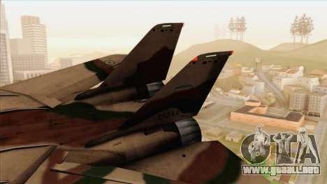 Grumman F-14A IRIAF para GTA San Andreas vista posterior izquierda