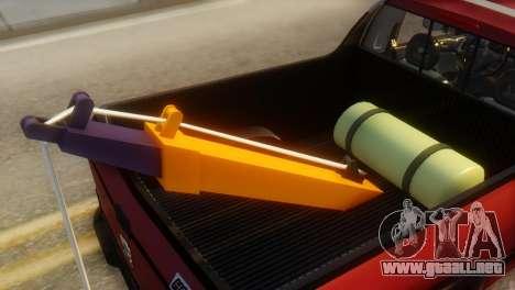 Peugeot 206 TowTruck para visión interna GTA San Andreas