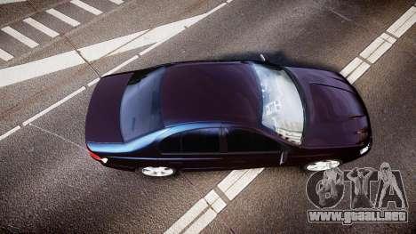Ford Falcon XR8 2004 Unmarked Police [ELS] para GTA 4 visión correcta