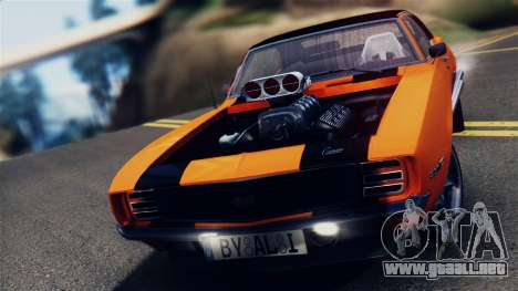 Chevrolet Camaro SS Dragster para GTA San Andreas vista posterior izquierda