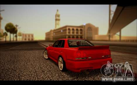Nissan Skyline (ER34) 2015 para GTA San Andreas left