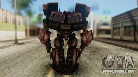 Watpath Skin from Transformers para GTA San Andreas tercera pantalla