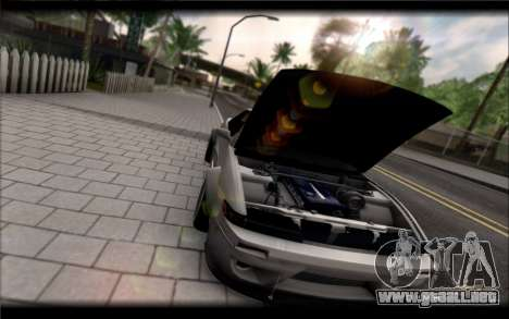 Nissan Silvia S13 Rocket Bunny para GTA San Andreas vista posterior izquierda