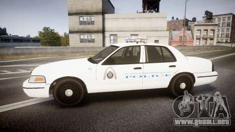 Ford Crown Victoria Metropolitan Police [ELS] para GTA 4 left