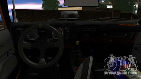 Chevrolet Camaro SS Dragster para vista lateral GTA San Andreas