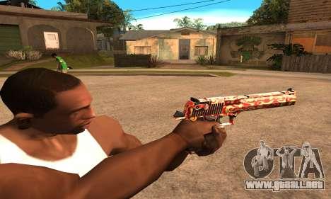 Red Splash Deagle para GTA San Andreas segunda pantalla