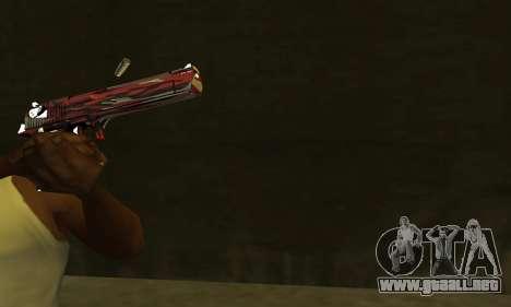 Red Puma Deagle para GTA San Andreas segunda pantalla