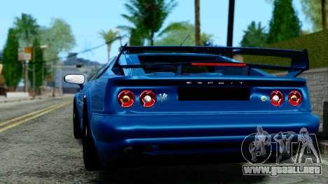 Lotus Esprit S4 V8 1998 Police Edition para GTA San Andreas left