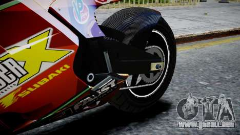 Bike Bati 2 HD Skin 1 para GTA 4 vista hacia atrás