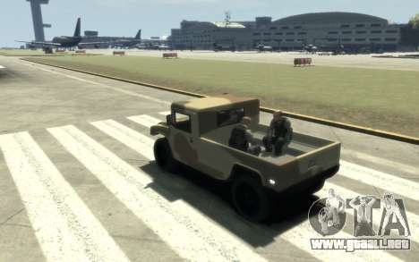 GTA 5 Millitary Patriot para GTA 4 vista hacia atrás