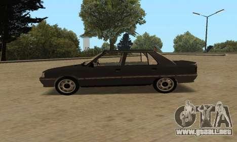 Renault 9 TSE 1992 para GTA San Andreas vista posterior izquierda
