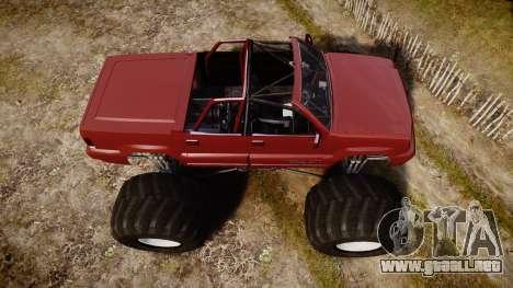 Albany Cavalcade FXT Cabrio Monster Truck para GTA 4 visión correcta