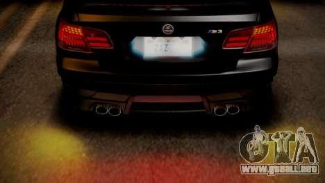 BMW M3 E92 Hamman para vista inferior GTA San Andreas