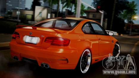 BMW M3 E92 Hamman para GTA San Andreas left