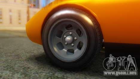 GTA 5 Pegassi Monroe para GTA San Andreas vista posterior izquierda