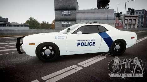 Dodge Challenger Homeland Security [ELS] para GTA 4 left