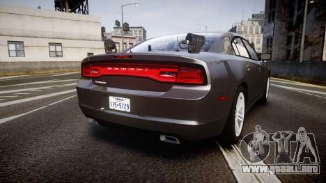 Dodge Charger Traffic Patrol Unit [ELS] rbl para GTA 4 Vista posterior izquierda