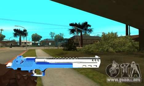 Blue Cool Deagle para GTA San Andreas tercera pantalla