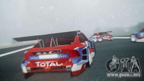 Volvo S60 Racing para GTA San Andreas vista hacia atrás