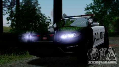 GTA 5 Vapid Police Interceptor v2 IVF para la vista superior GTA San Andreas