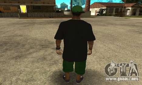 Groove St. Nigga Skin The Third para GTA San Andreas tercera pantalla