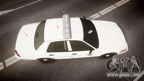Ford Crown Victoria Metropolitan Police [ELS] para GTA 4 visión correcta