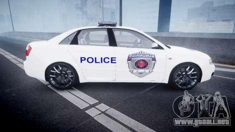 Audi S4 Serbian Police [ELS] para GTA 4 left