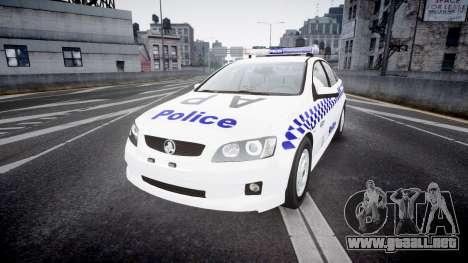 Holden Commodore Omega NSWPF [ELS] para GTA 4