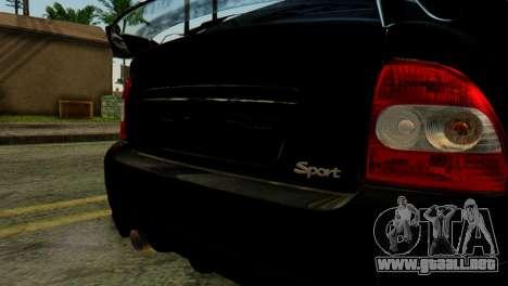 VAZ 2172 Coupe para GTA San Andreas vista hacia atrás