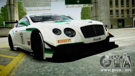 Bentley Continental GT3 2014 para GTA 4