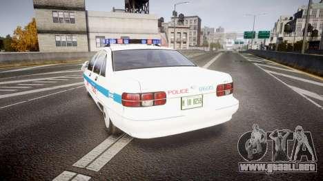 Chevrolet Caprice Liberty Police v2 [ELS] para GTA 4 Vista posterior izquierda