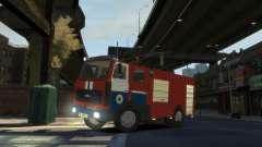 MAZ 533702 el Ministerio de situaciones de emerg