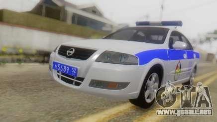 Nissan Almera Iraqi Police para GTA San Andreas
