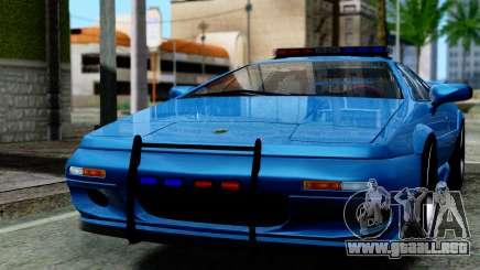 Lotus Esprit S4 V8 1998 Police Edition para GTA San Andreas