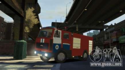 MAZ 533702 el Ministerio de situaciones de emergencia de Belarús para GTA 4