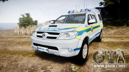 Toyota Hilux 2010 South African Police [ELS] para GTA 4