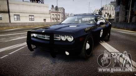 Dodge Challenger Marshal Police [ELS] para GTA 4