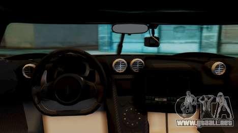NFS Rivals Koenigsegg Agera R Enforcer para la visión correcta GTA San Andreas