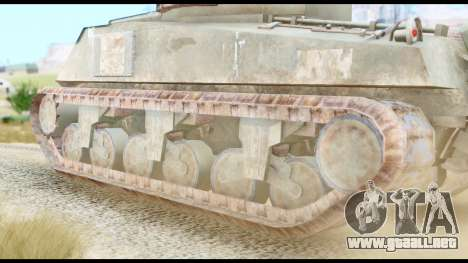 M4 Sherman 75mm Gun Urban para GTA San Andreas vista posterior izquierda