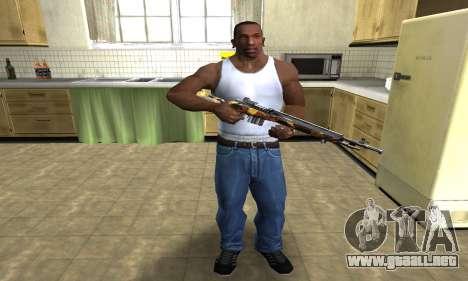 Gold Rifle para GTA San Andreas tercera pantalla