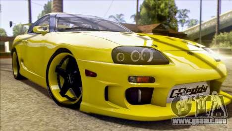 Toyota Supra 1998 E-Design para la vista superior GTA San Andreas