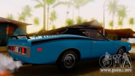 Dodge Charger Super Bee 426 Hemi (WS23) 1971 IVF para GTA San Andreas vista posterior izquierda