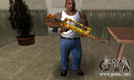 Golden AUG A3 para GTA San Andreas tercera pantalla
